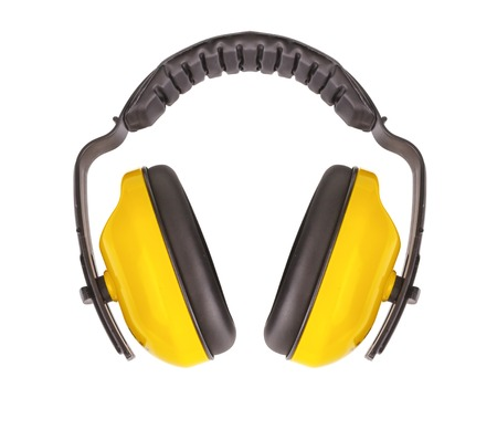 Protective ear muffs Isolated on a white background.