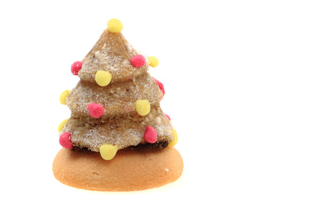 Traditional Czech Christmas Cookie Isolated On The White Background
