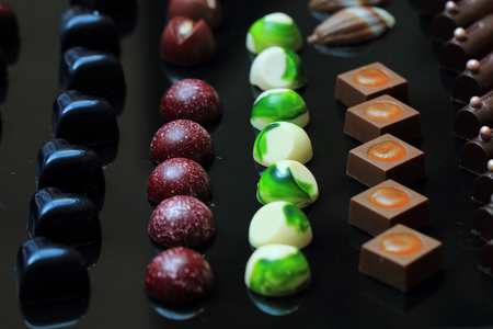 chocolate bonbons as ver nice sweet food background