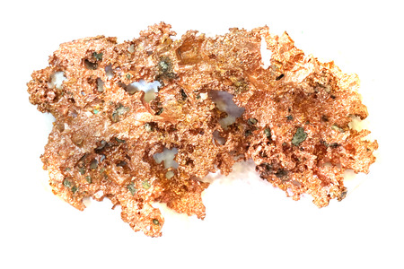 Photo for copper mineral isolated on the white background - Royalty Free Image