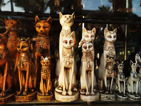 Egyptian typical souvenirs as very nice background