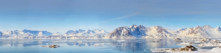 Greenland panorama shoot in spring time