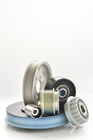 types of roller and timing belt transmission isolated