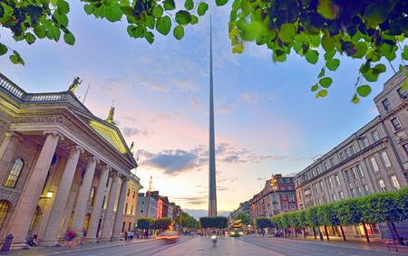 Dublin Spire at sunset