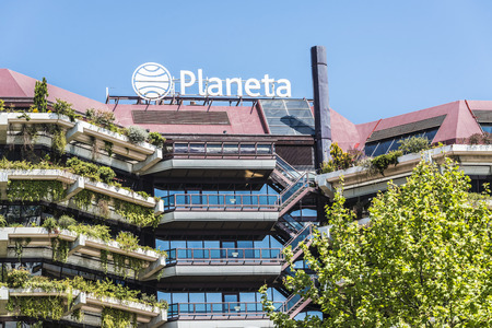 Barcelona, Spain - April 14, 2015: Grupo Planeta headquarters. Grupo Planeta is a multimedia group operating in publishing, broadcasting and communication of Spain, Portugal and America. It originated in the Editorial Planeta, founded in 1949 in Barcelona