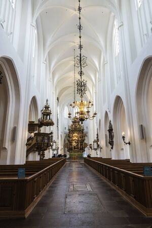 Photo pour Interior of the Saint Peter's Church in the center of Malmo, Sweden - image libre de droit