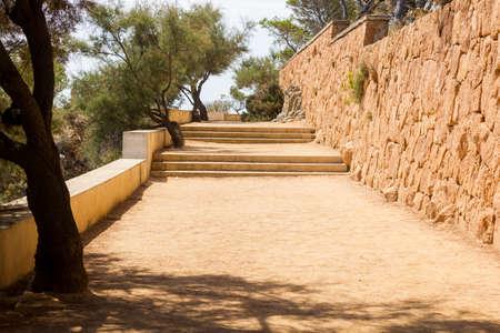 Photo pour Camino de Ronda, Costa Brava, Catalonia, Spain, is a path that follows the steep Mediterranean coastline of the Catalan coast - image libre de droit