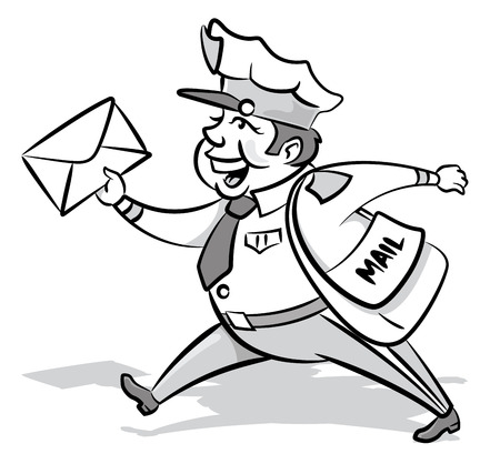 Vintage Styled Mailman with a letter