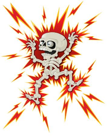 Halloween Skeleton gets a Shock