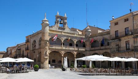 CIUDAD RODRIGO, SPAIN - JUNE 1, 2014: Ayuntamiento or old Town Hall (16th Century) in Ciudad Rodrigo, a small cathedral city in the province of Salamanca, Spain.