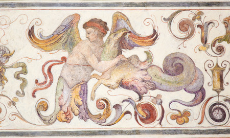 16th Century fresco in the Courtyard of the Palazzo Vecchio in Florence, Italy