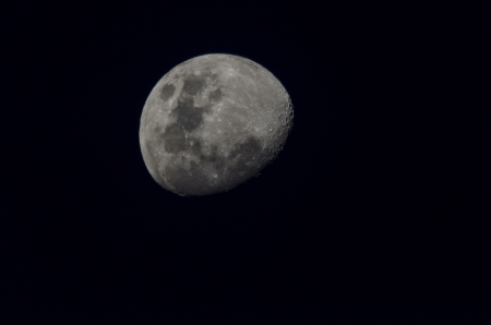 Photograph of the Moon showi