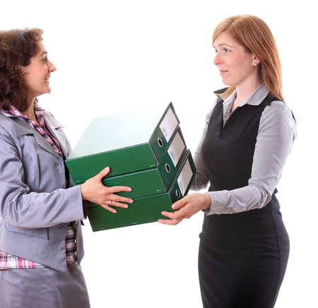Boss give away work for her assistant