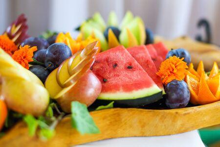 Foto für Fruit bowl full of ripe fruits - Lizenzfreies Bild