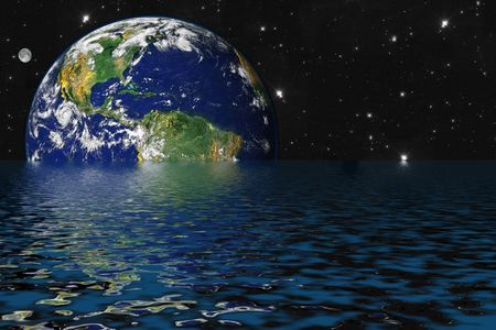 Drowning Earth due to Global Warming and Greenhouse Effect