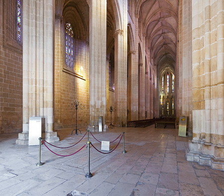 Batalha Monastery  Nave and Altar of the Church  Gothic and Manueline masterpiece  Portugal  UNESCO World Heritage Site