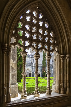 Royal Cloister of the Batalha Monastery  A masterpiece of the Gothic and Manueline art  Portugal  UNESCO World Heritage Site
