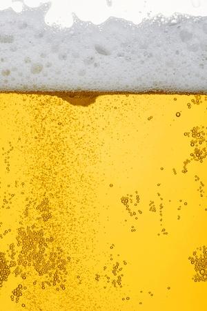 Fresh beer dewy glass texture