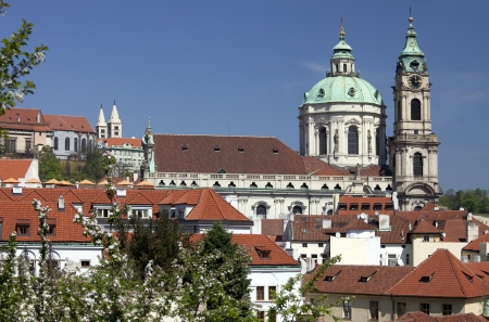 Prague - Panoramic with St  Nicholas cathedral and Lesser Town