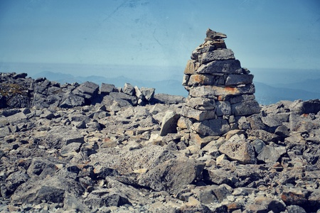 Filtered picture of path to the Ben Nevis summit - the highest mountain in the United Kingdom