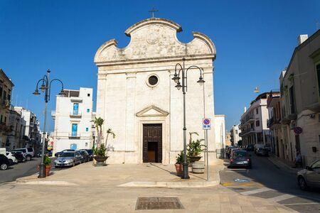 POLIGNANO A MARE, ITALY - JULY 6 2018: Church Chiesa della Trinita on July 6, 2018 in Polignano a Mare, Italy.