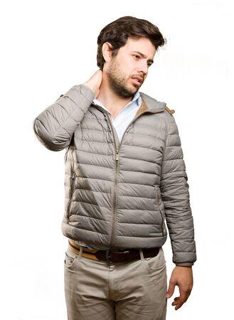Photo pour Young man doing a depression gesture - image libre de droit