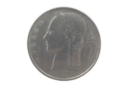 5 fr. Belgiun coin 1948
