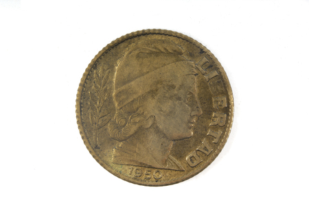 10 cent old coin of Argentina 1950
