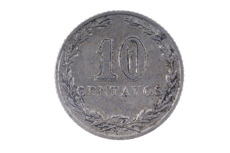 Old currency Argentina 10 centavos
