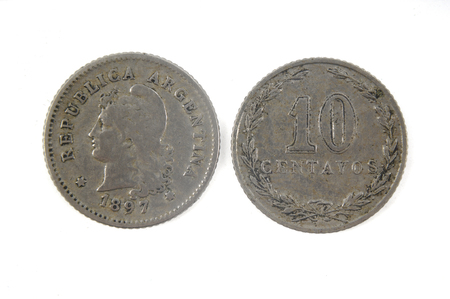 Old currency Argentina 10 centavos,1897