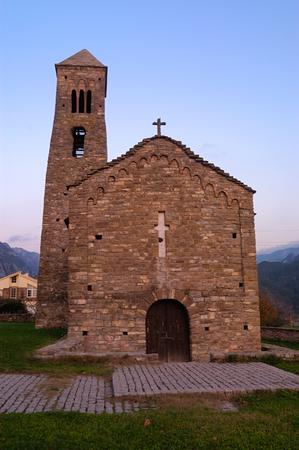Romanesque church of Coll de Narg, Lerida province, Spain