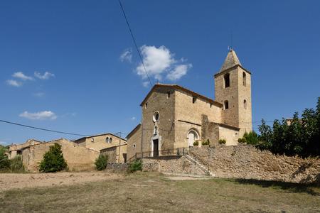 Village of Vilamari in El Pla de l Estany, Girona province,Catalonia, Spain