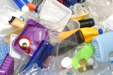 Photo for close up of a Recycling plastic - Royalty Free Image