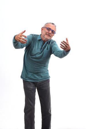 Foto de man hugging on white background - Imagen libre de derechos