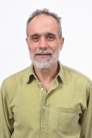 Photo pour portrait of a man on white background - image libre de droit