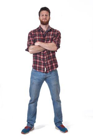 Photo pour full portrait of a man with on white background - image libre de droit