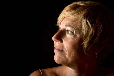 Photo pour face of middle aged woman - image libre de droit