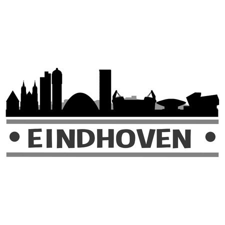 Illustration pour Eindhoven Netherlands Europe Icon.le Template - image libre de droit