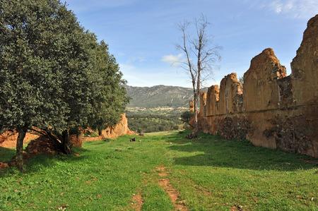 Abandoned mining village of Navas de Rio Frio, Sierra Morena, Province of Ciudad Real, Castilla la Mancha, Spain