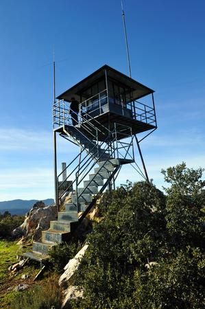 Forest lookout tower, Sierra Madrona, Ciudad Real province, Castilla la Mancha, Spain