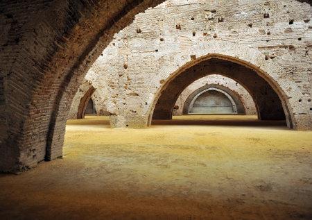 Medieval shipyards in Atarazanas, Seville, Andalusia, Spain