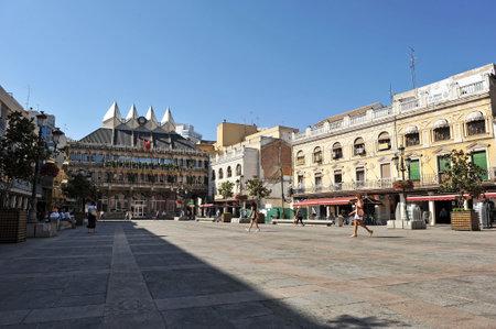 Plaza Mayor and City Hall of Ciudad Real, Castilla la Mancha, Spain