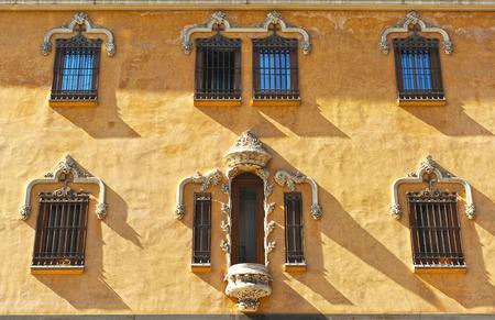 Modernist architecture, Gran Via, Granada, Andalusia, Spain