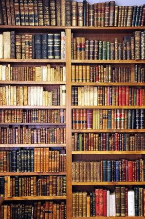 Photo pour Shelf of old books, bookstore, library, store of old books - image libre de droit