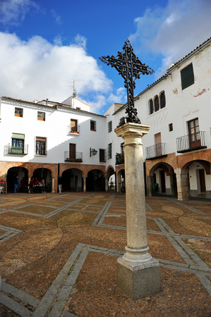 Small square named Plaza Chica of Zafra, Badajoz, Extremadura, Spain