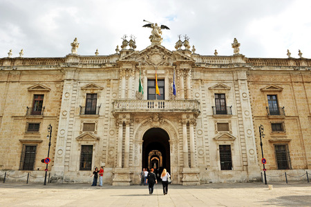 The Royal Tobacco Factory in Seville, Spain, currently the seat of the rectorate of the public University of Seville