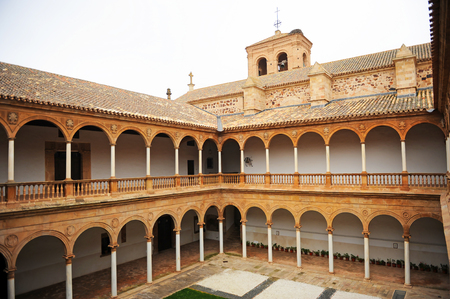 Cloister of the convent of the Assumption of Calatrava in Almagro, Castilla la Mancha, Spain
