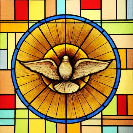 Foto de Holy Spirit, stained glass - Imagen libre de derechos