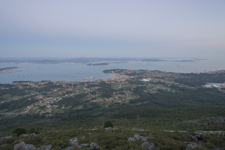 Views from La Curota La Coruna, Spain.
