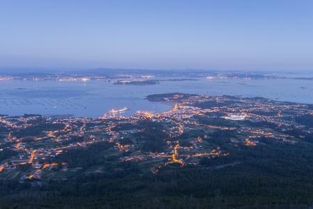 Views from La Curota lookout La Coruna, Spain.